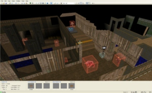 Una vista di un livello di Doom in Doom Builder 2